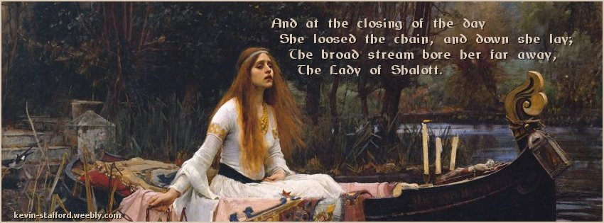 Lady of Shalott facebook cover