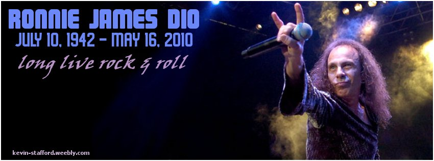 Ronnie James Dio facebook cover